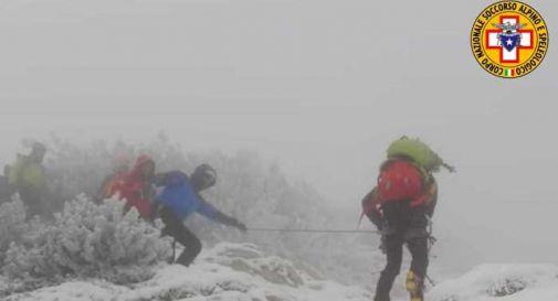 Notte a -10 gradi, recuperati tre alpinisti trevigiani