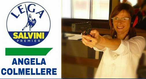 Il sindaco Colmellere con la pistola nel manifesto elettorale