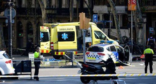 un'immagine dell'attentato di venerdì a Barcellona
