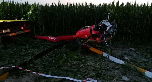 l'elicottero dopo l'incidente