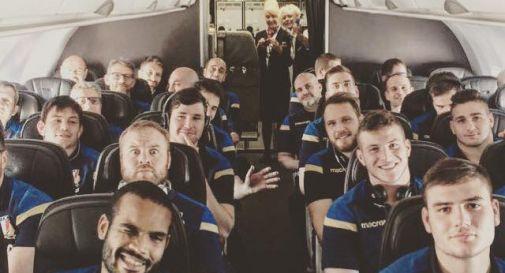 la nazionale in arrivo a Cardiff per il match di domenica