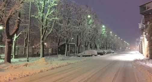 neve in pianura veneto
