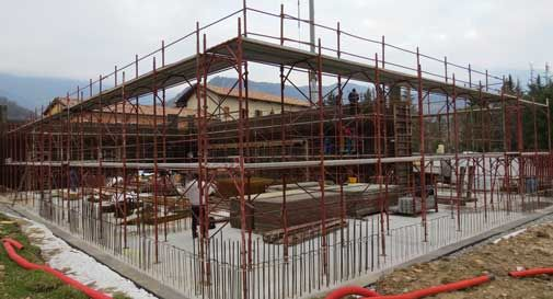 Vittorio Veneto, continuano i lavori di costruzione del Palafenderl