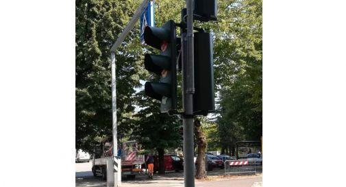 il semaforo installato