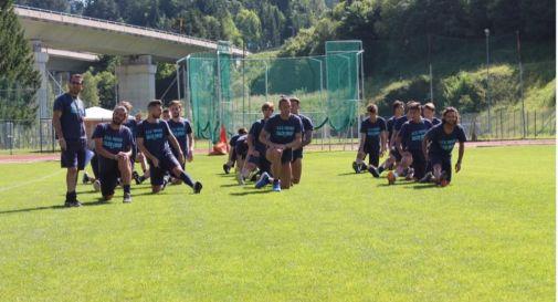 il Treviso in allenamento durante il ritiro