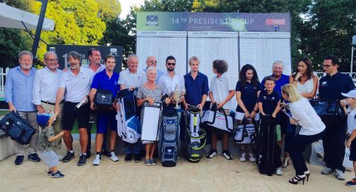 i premiati della 14^ Coppa del Presidente al Golf Club Ca' Amata