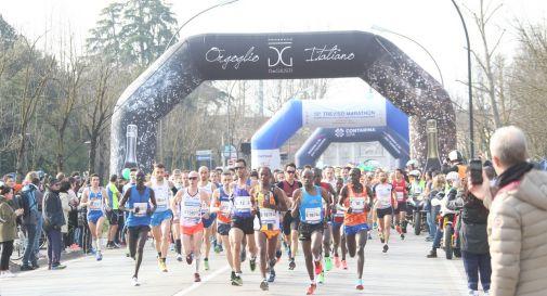 la partenza della Treviso Marathon 2018