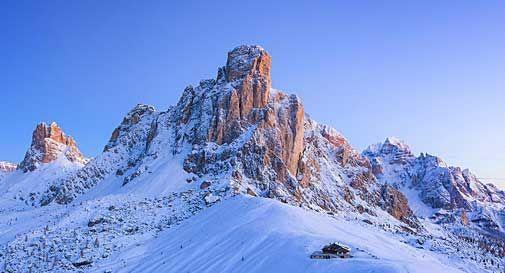 27 cm di neve sulle Dolomiti