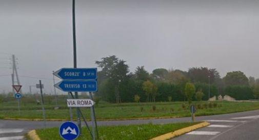 l'imbocco di via Roma a Mogliano